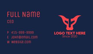 Bull Airplane Business Card