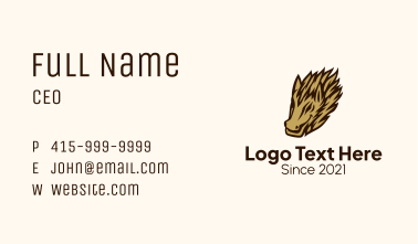 Wild Hog Character Business Card