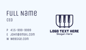 Online Piano Class Business Card