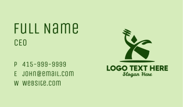 Abstract Healthy Lifestyle  Business Card