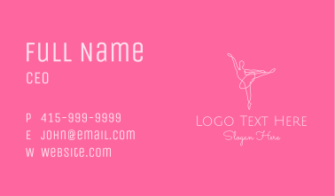 Elegant Ballerina Twirl Business Card