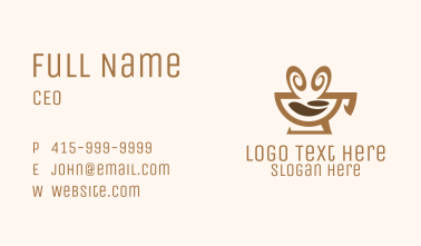 Brown Aromatic Coffee Cafe Business Card