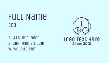 Game Controller Eyeglasses Letter Business Card