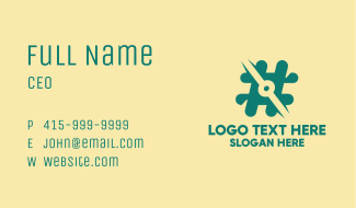 Digital Hashtag Symbol Business Card