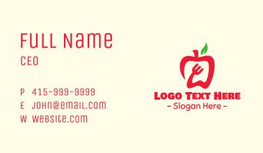 Red Apple Restaurant Business Card