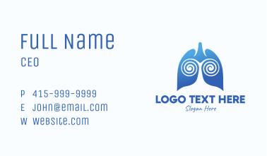 Blue Swirly Respiratory Lungs Business Card