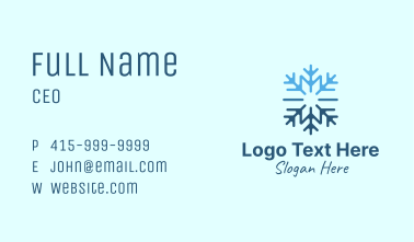 Snowflake Frost Cooling Business Card