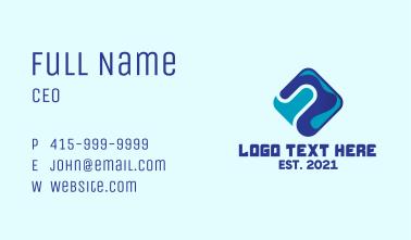 Blue Tech Diamond  Business Card