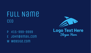 Blue Flying Fish Business Card