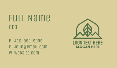 Green Leaf Mountain Business Card