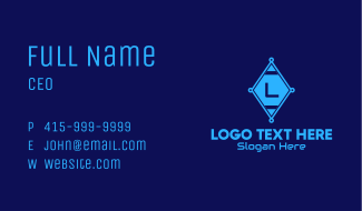 Diamond Tech Lettermark Business Card