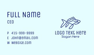 Blue Shark Monoline Business Card