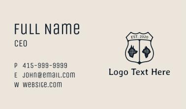 Rustic Pet Badge Business Card