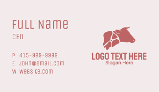 Beef Cuts Business Card
