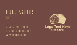Tasty Bread Loaf Business Card