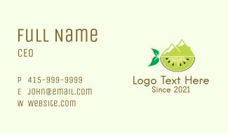 Mountain Kiwi Fruit   Business Card