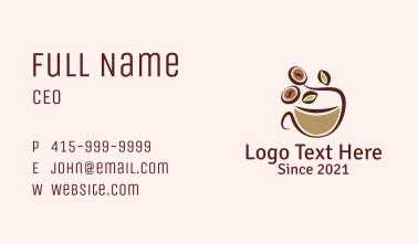 Organic Coffee Latte  Business Card