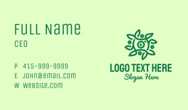 Green Vine Camera Lens Business Card