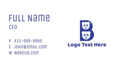 Blue B Panda  Business Card
