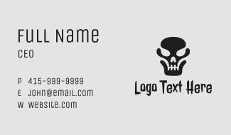 Black Dead Skull  Business Card