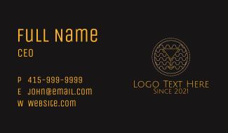 Golden Martini Glass  Business Card