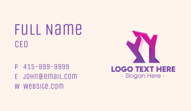 Abstract Purple Shape Business Card