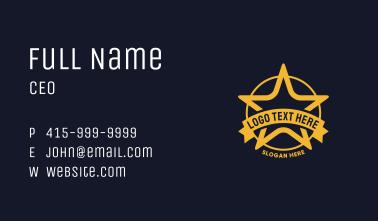 Star Circle Badge Business Card