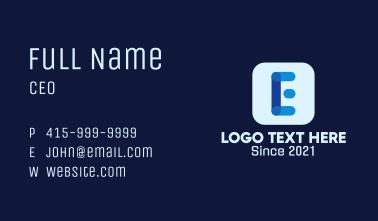 Digital Application Letter E Business Card