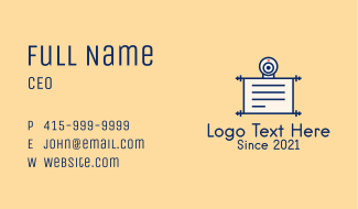 Online Learning Document Business Card