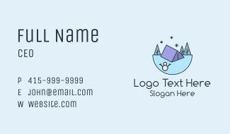 Winter Camping Business Card