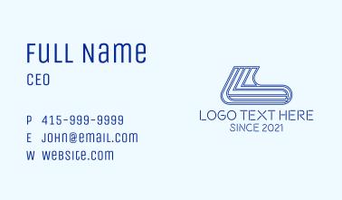 Sneaker Sock Outline Business Card