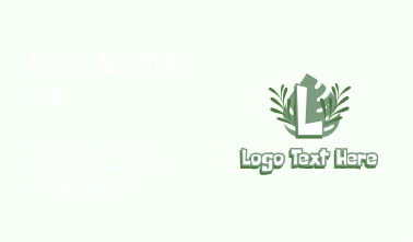 Jungle Leaves Letter  Business Card