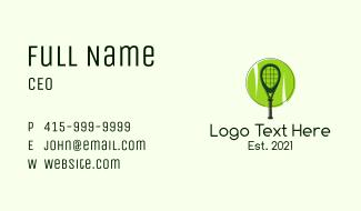Tennis Racket Ball Business Card