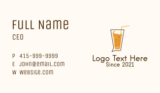 Drink Chat Bubble  Business Card