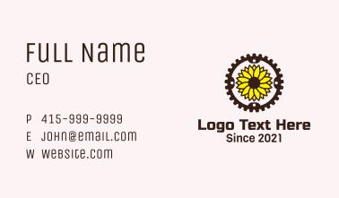 Sunflower Bike Wheel Business Card