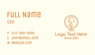 Chain Desk Lamp Business Card