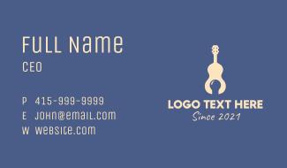 Guitar Music Idea  Business Card