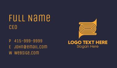 Golden Trumpet Instrument Business Card