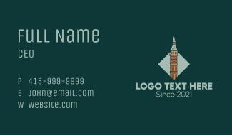 Big Ben Coffee Tower Business Card