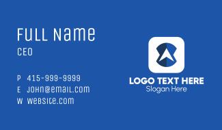 Blue Navigation Application Business Card