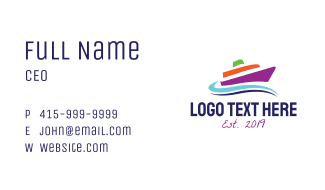 Tropical Yacht  Business Card