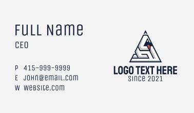 Triangle Duck Maze  Business Card