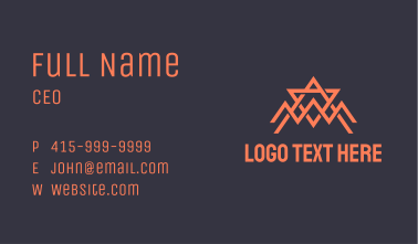 Abstract Orange Spider Tech Business Card