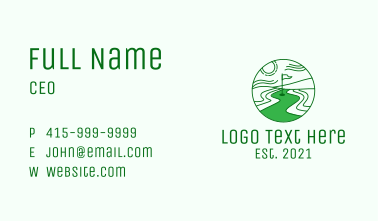 Golf Course Scenery Business Card