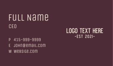 Friendly & Young Business Card