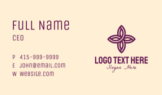Decorative Flower Business Card