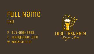 Beer Mug Wheat Business Card