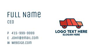 Geometric Toy Car Business Card