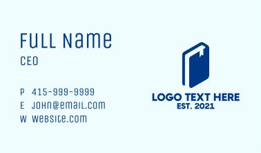 Blue Book Silhouette Business Card