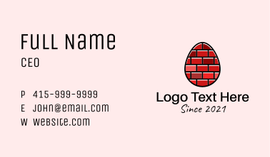 Concrete Brick Egg  Business Card